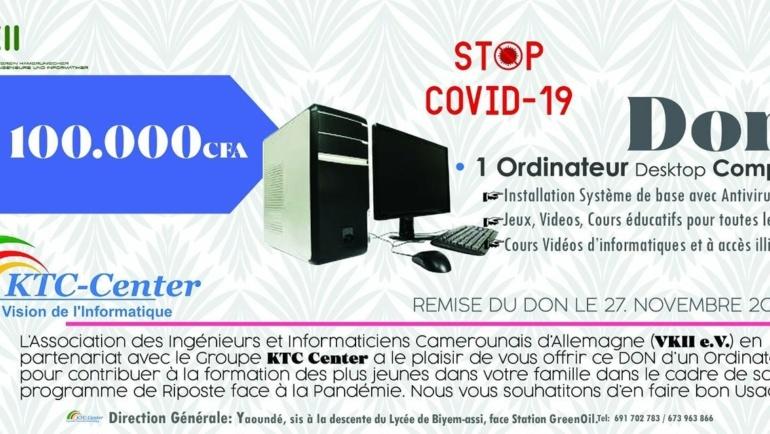 Diaspora Against Covid 19 – Remise de don d'ordinateur par KTC Home Service